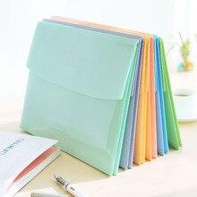 1pc A4 File Folder Bag Expanding Wallet PVC File Organizer Document Bag Fichario Escolar the Office School Supplies