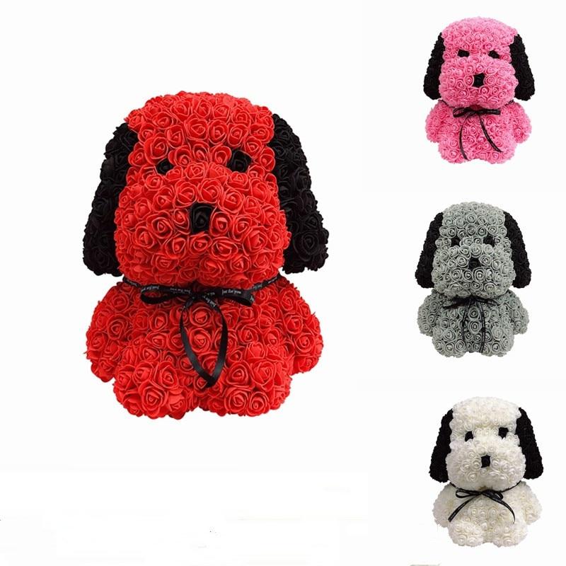 Entrega gratuita de 38cm rosa, hu ba cão, ursinho de pelúcia, rosa, decoração artificial, presente de natal para presente do dia dos namorados feminino