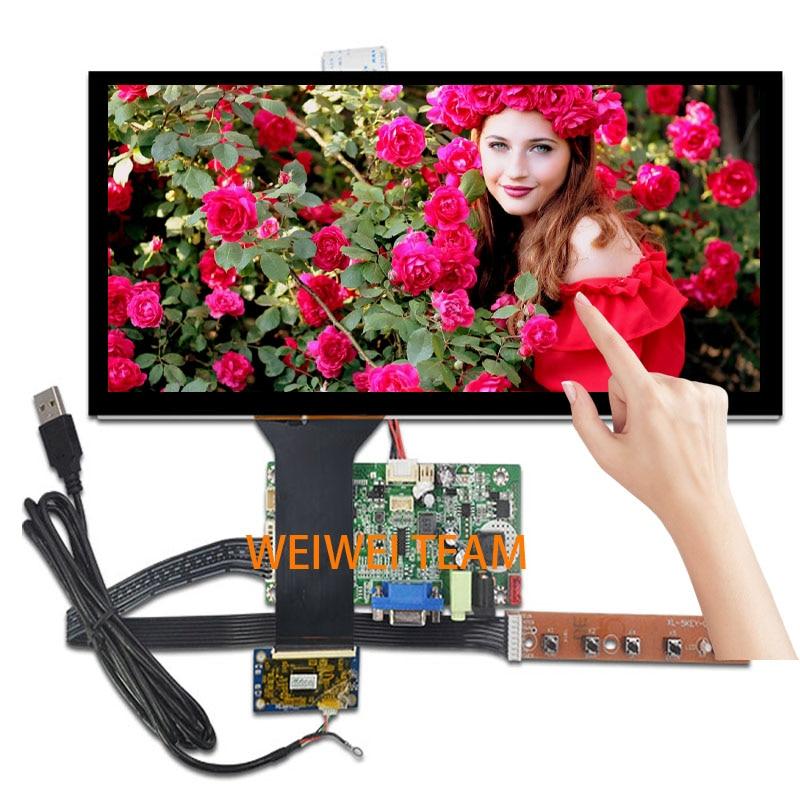 HSD123KPW1-A30 Wisecoco 12.3 polegada Tela de LCD com Painel de Toque Ultra Larga esticada Bar 1920*720 Carro HDMI LVDS VGA placa do drive