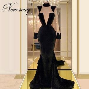 Muslim beading Black Formal Gown Prom Dresses Women Custom 2020 New Couture Dubai Mermaid Evening Dresses Robe De Soiree Kaftans