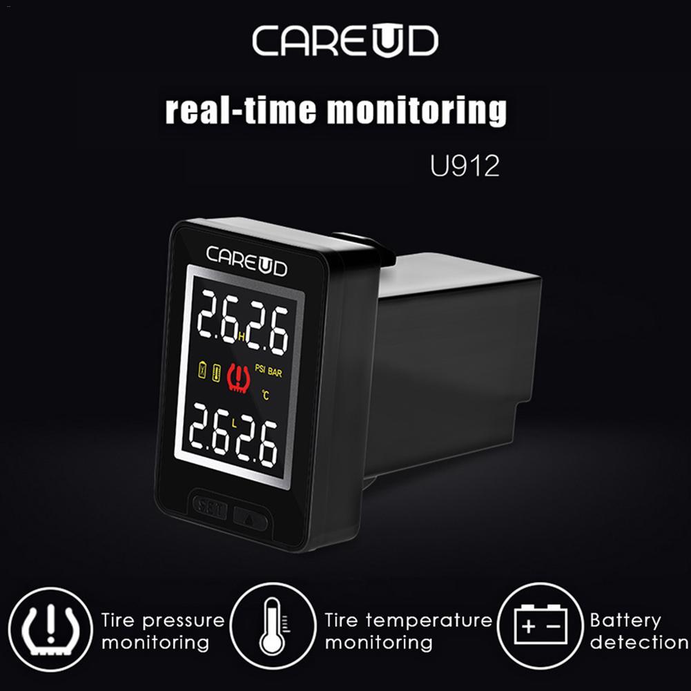 Sistema inalámbrico de monitoreo de presión de neumáticos TPMS para el coche Sensor incorporado en tiempo Real pantalla LCD Monitor incorporado para Honda CAREUD U912