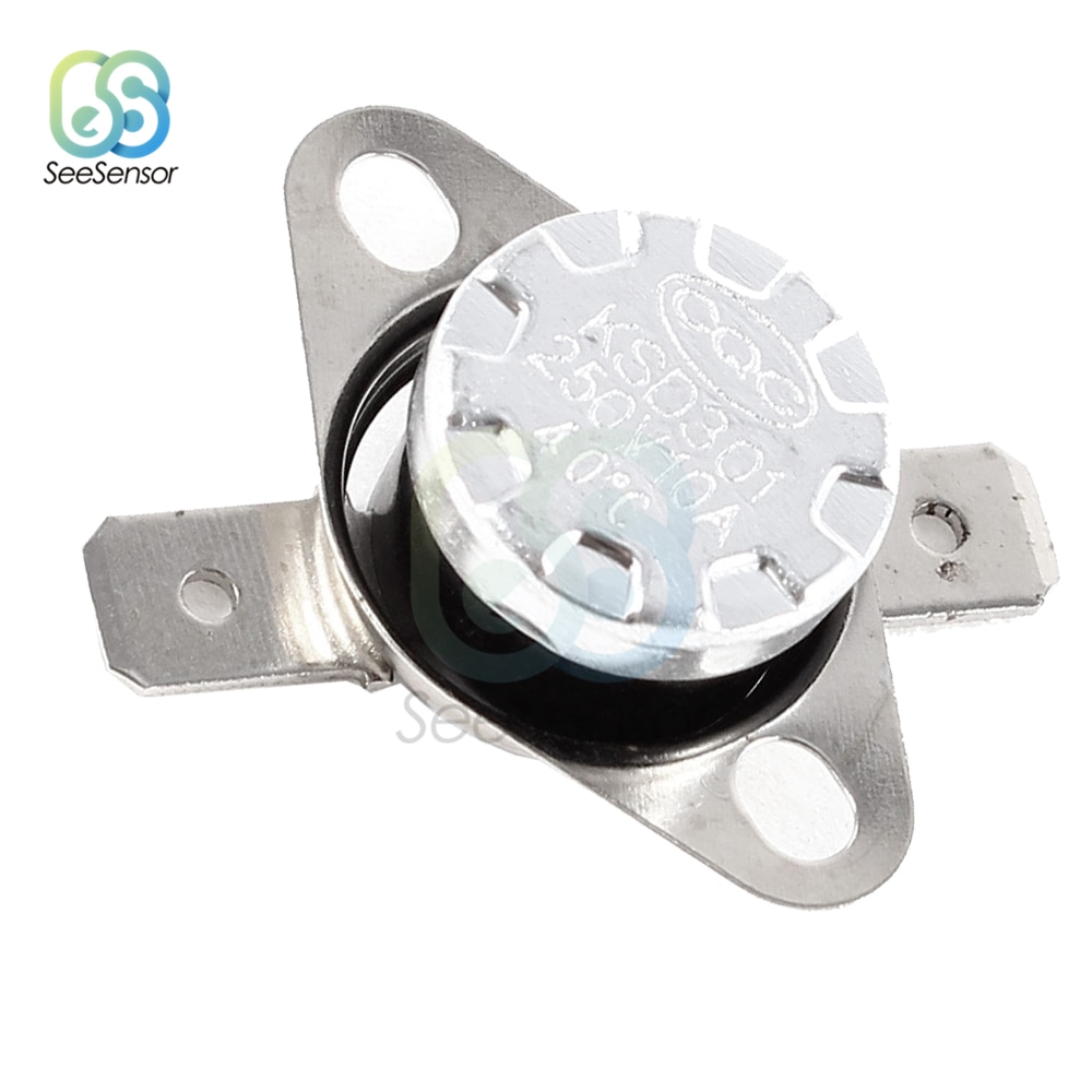 KSD301 250V 10A normalmente abierto/normalmente cerrado termostato interruptor temperatura Control térmico DegC 30-130 Celsius grado