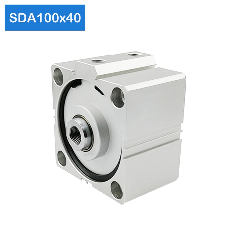 SDA100 * 40 شحن مجاني 100 مللي متر تتحمل 40 مللي متر السكتة الدماغية المدمجة اسطوانات الهواء SDA100X40 المزدوج عمل الهواء الهوائية اسطوانة