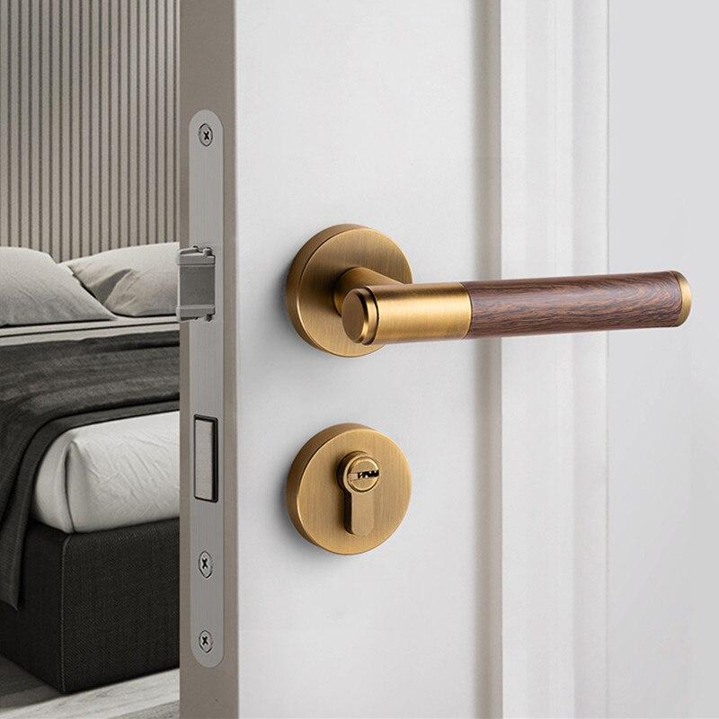 سبائك الزنك الحديثة باب أمان داخلي أقفال غرفة نوم كتم مقبض الباب قفل المنزل قفل ديدبولت الأثاث إكسسوارات الأجزاء الداخلية للكمبيوتر