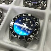 Diving watch men Steel 20Bar NH35 stainless steel BGW9 blue super luminous AR coating sapphire Automatic mechanical watch men