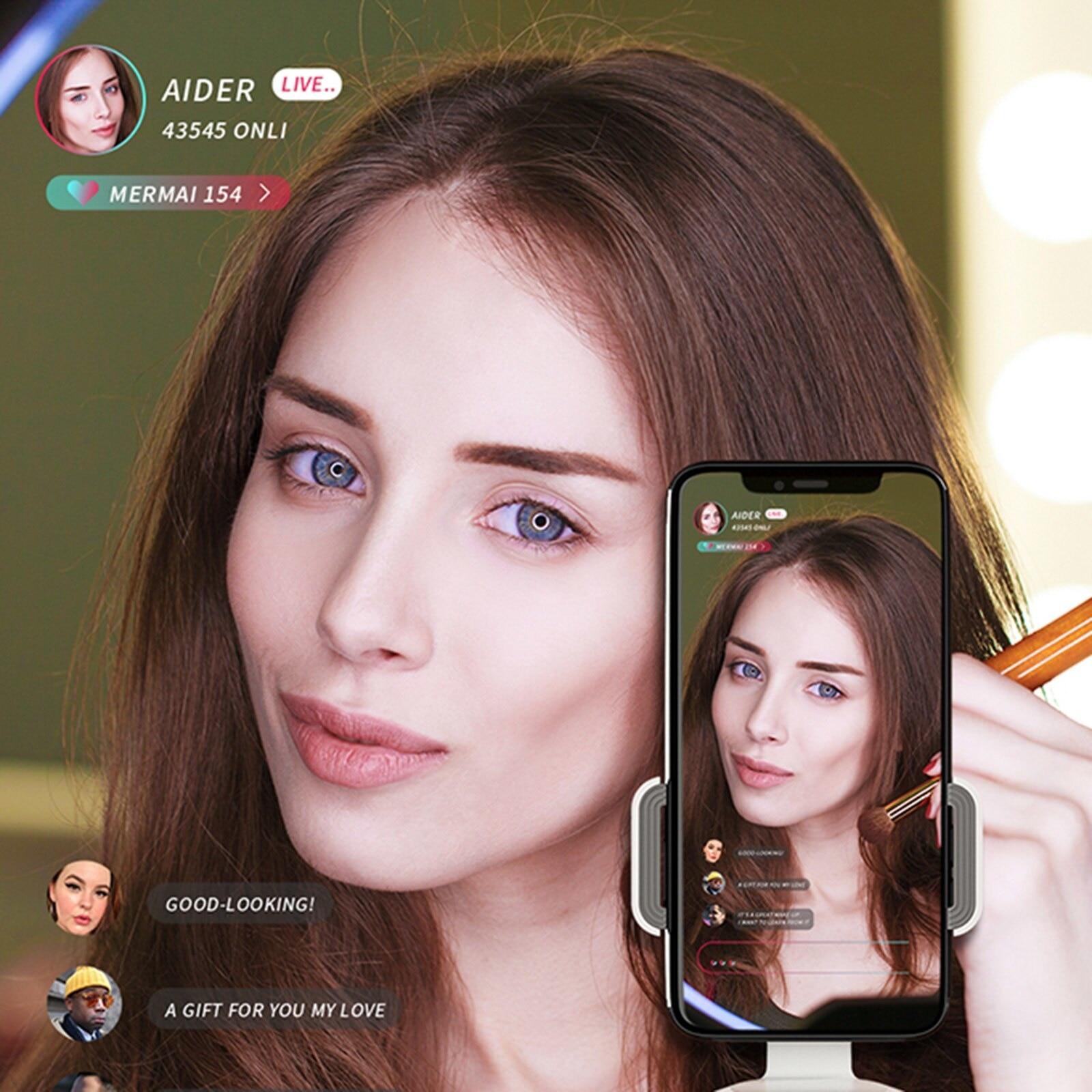 Portable 360°Rotation Auto Face & Object Tracking Selfie Stick Smart Shooting Phone Mount Gimbal Vlog Smartphone Mount Holder enlarge