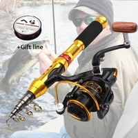 1 5m 1 8m 2 1m 2 4m 2 7m carbon portable fishing rod and reel bag set ultrashort telescopic fishing tackle travel outdoor sports