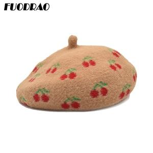 FUODRAO Autumn Winter Women Wool Berets Vintage Fashion Girls Beret Hat Female Bonnet Caps Painter Style Hat A9