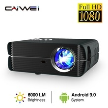 Full Hd Projector 1080 P Home Theater Video Beamer Led 6000 Lumens Wireless Airplay Freeshipping A10