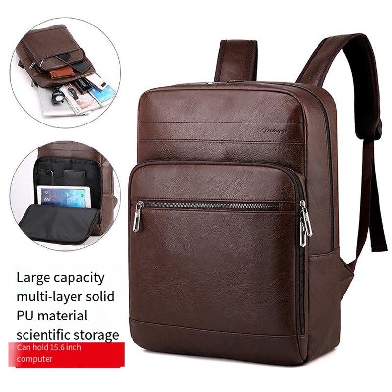 Вместительный рюкзак для мужчин, брендовый мужской портфель для ноутбука 15,6 дюйма, многофункциональный водонепроницаемый дорожный ранец с...