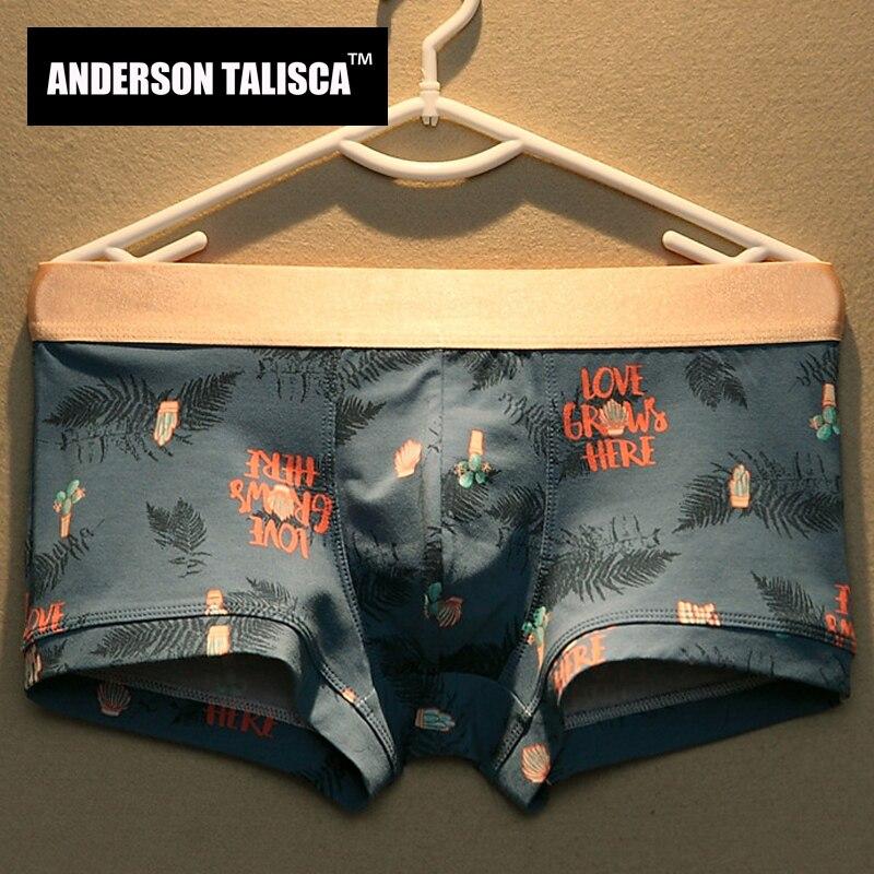 ANDERSON TALISCA, новинка, мужские боксеры, нижнее белье, мужские боксеры с принтом, Ropa Interio, хлопок, мужские боксеры, размер M-3XL, 122601, хит продаж