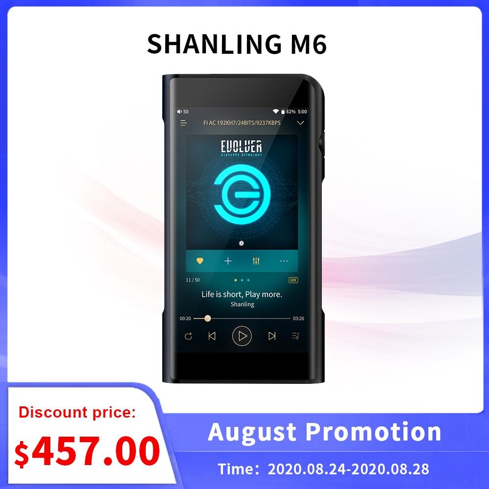 Reproductor de música SHANLING M6 HD portátil MP3 32bit/768Khz DSD256 HiFi AK4495SEQ Android Wifi sin pérdidas