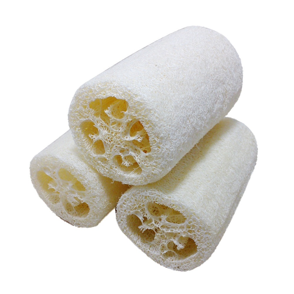 7.5cm natural eco-friendly esponja esponja loofah malha esponja tigela pratos de limpeza esponja escova de limpeza do corpo banho chuveiro esponja