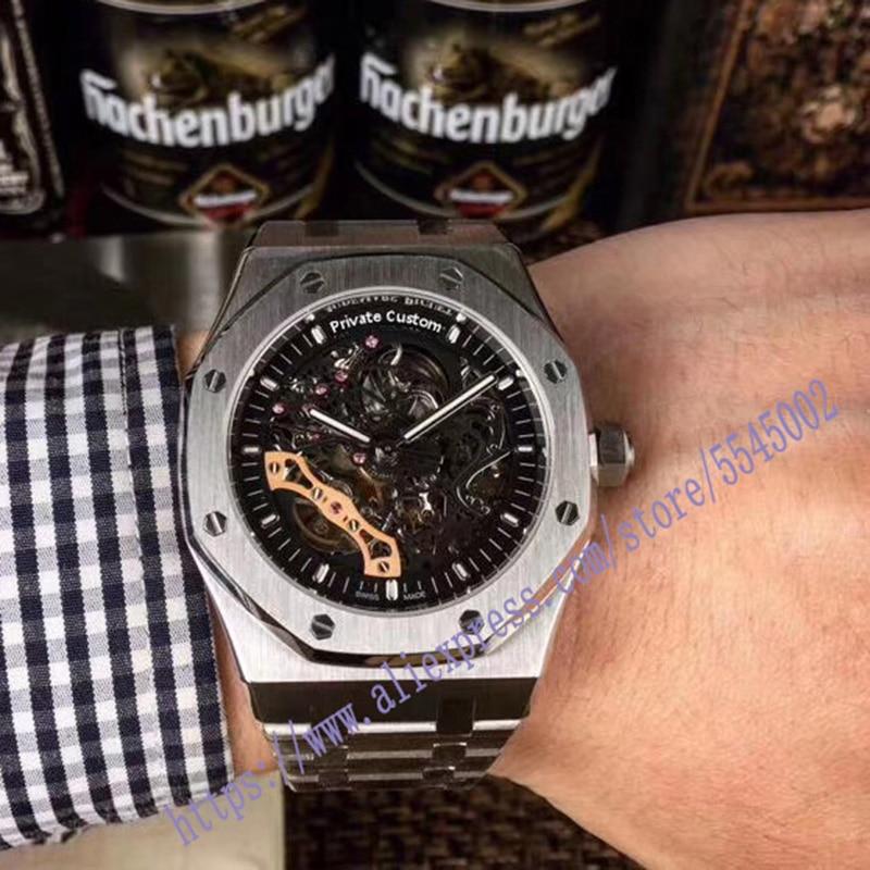luxury brand classic gold men full steel watch automatic mechanical self-wind watches business designer dress watch