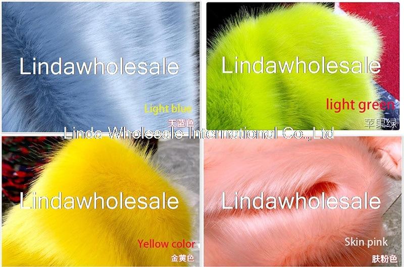 فرو ثعلب قطيفة عالي الجودة ، قماش لباد ، مواد تزيين للسجاد ، 160cmx45 سم (نصف ياردة)/قطعة ، 3-3.5 سنتيمتر
