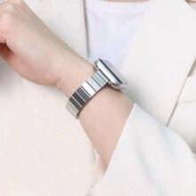 Bandas finas para apple watch se de 40mm y 44mm, pulsera fina de acero inoxidable para iwatch 7, 6, 5, apple watch 3, 38mm y 42mm