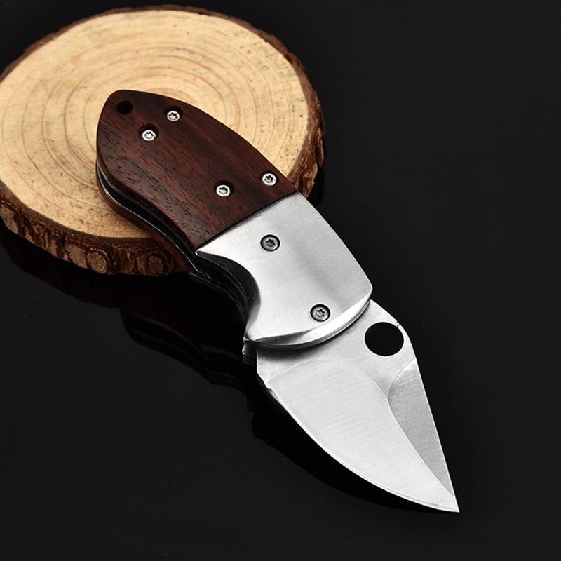 Mini cuchilla plegable para acampar, herramienta portátil, pequeño cuchillo militar de supervivencia para exteriores, llavero, herramienta múltiple, Knif Outd de defensa personal