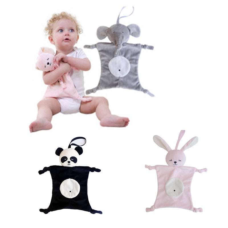 Newborn Baby Toys Pacifier Doll Soothing Towel Blankie Infant Soft Soother Towel Cartoon Animal Educ