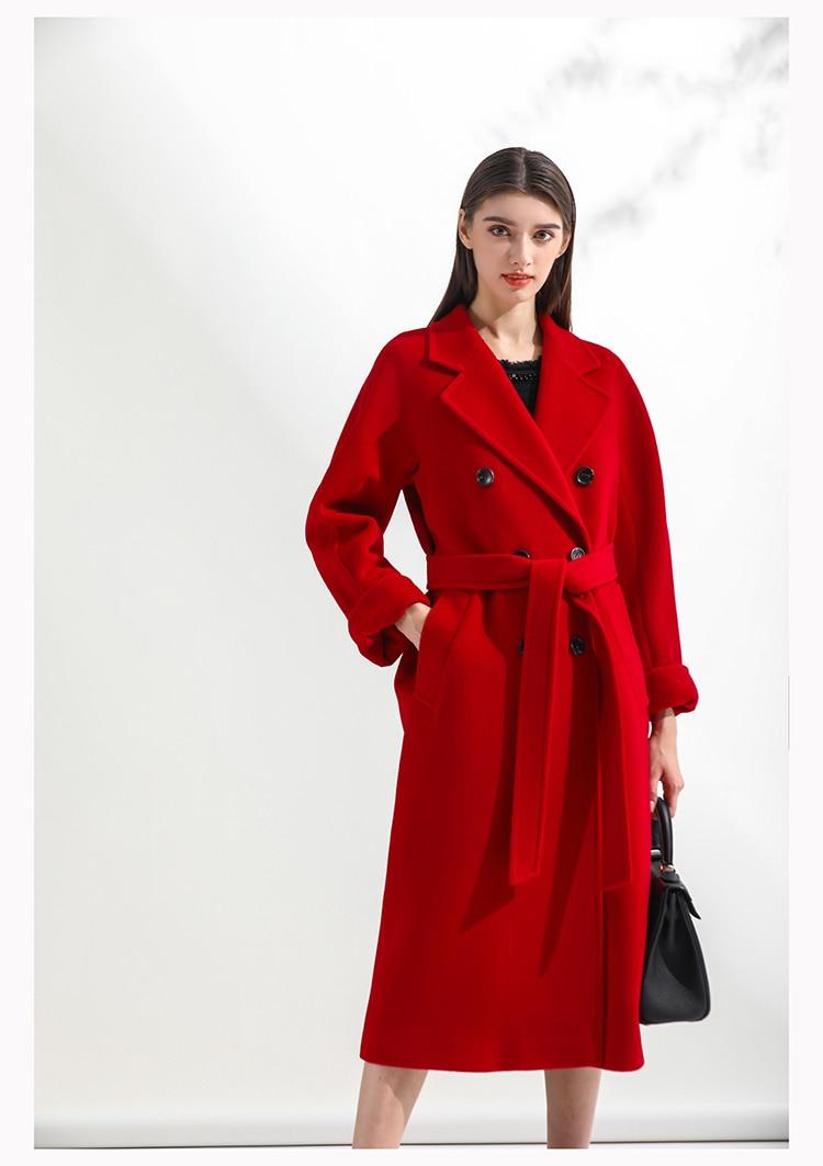 WYWAN الخريف خندق معطف ضئيلة واحدة الصدر خندق معطف امرأة خندق معطف طويل النساء مصدات الرياح حجم كبير معطف فام