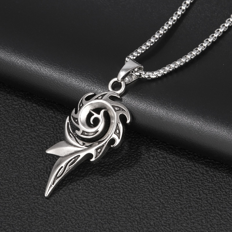 European and American Phoenix Flame Pendant Necklace Male Domineering Female Hiphop Hip Hop Street Stainless Steel Chain Jewelry