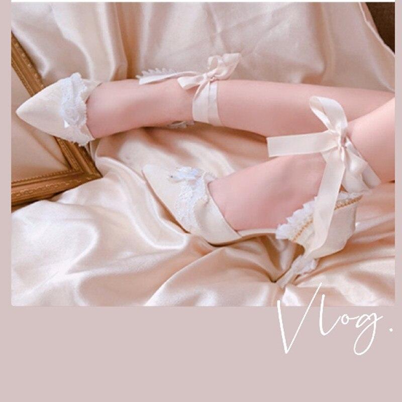 Original Design Handmade Women's Shoes High Heels Shallow Mouth Single Shoes Elegant Butterfly-knot Princess Pumps Shoe Sandals