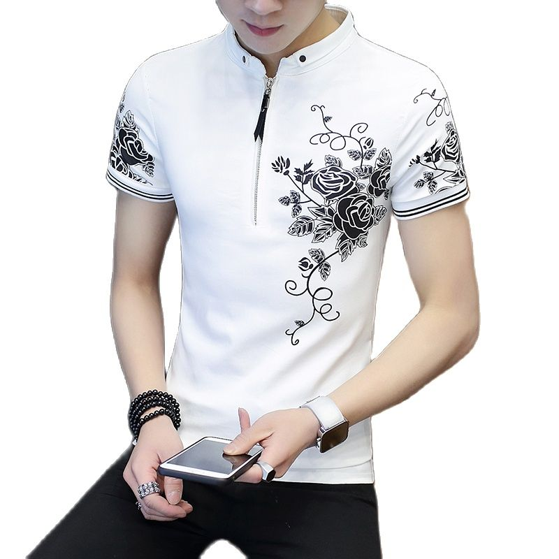 ¡2021! ¿Camiseta de manga corta para hombre de camisa informal Coreana de...