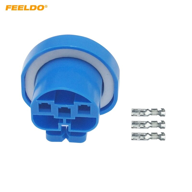 FEELDO 2Pcs Auto Car Motorcycle 9004-21/HB1/9007/HB5 HID Lâmpada LED DIY Rápido terminais do Conector de adaptador Plug # AM6153