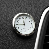 Светящиеся автомобильные мини-часы, цифровые часы с наклейкой, механика, кварцевые часы, автоукрашение, автомобильные аксессуары, подарки