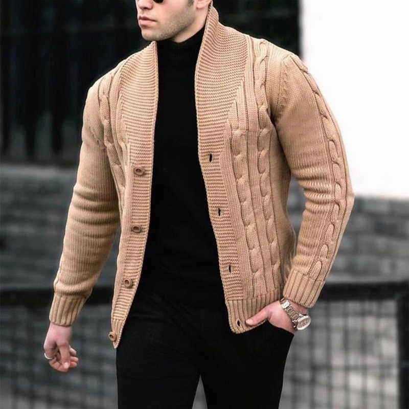 Новинка 2021, мужские свитера, осенне-зимние теплые кашемировые шерстяные свитера, мужская повседневная трикотажная одежда, свитера, пальто, ...