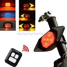 Умный велосипедный задний фонарь с поворотным сигналом s USB Перезаряжаемый велосипедный задний светильник с дистанционным управлением све...