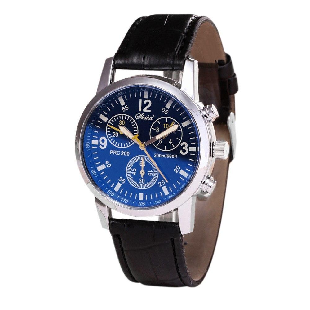 2021 decoration vintage  Blue-ray glass neutral quartz simulates wrist epidermal Leather Strap watch часы мужские женские