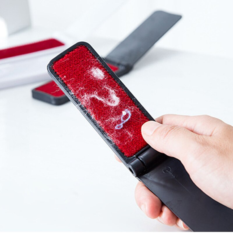 1Pc Rotary Anti-estático pegajoso brocha para polvos removedor de pelo ropa suéter de lana cepillo de limpieza
