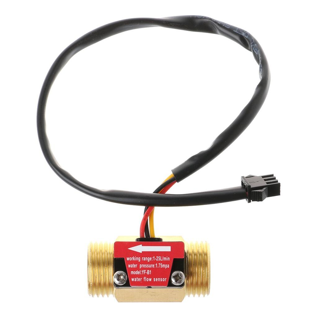 Sensor de flujo G1/2 , interruptor de Sensor de flujo de agua 1-25L/min, medidor de flujo