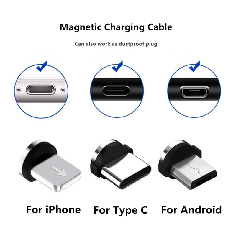 Магнитный кабель Micro USB 1 м для iPhone, Samsung, Android, быстрая зарядка USB Type C, Магнитный зарядный провод, шнур-1