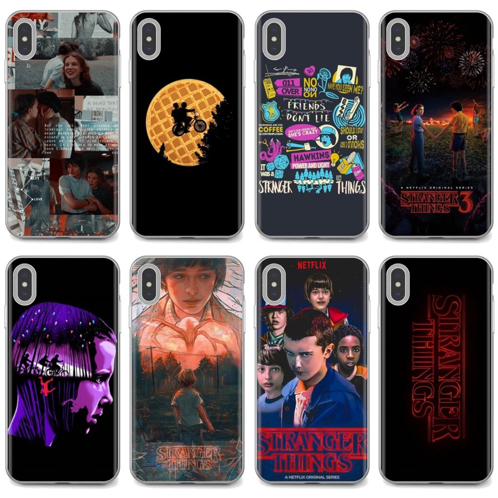 Funda de teléfono de silicona barata para Huawei Honor Y5 2018 2019 8S 9X Pro 20 10 10i Lite stranger things