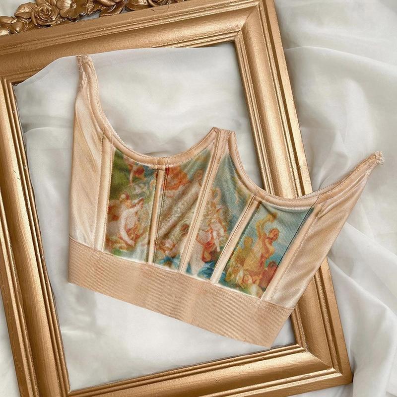 AliExpress - Vintage Angel Painting High Waist Corsets Wrap Girdle Sliming Shaper Woman Elastic Wide Belt Slim Sexy Shape Wear Stylish Tide