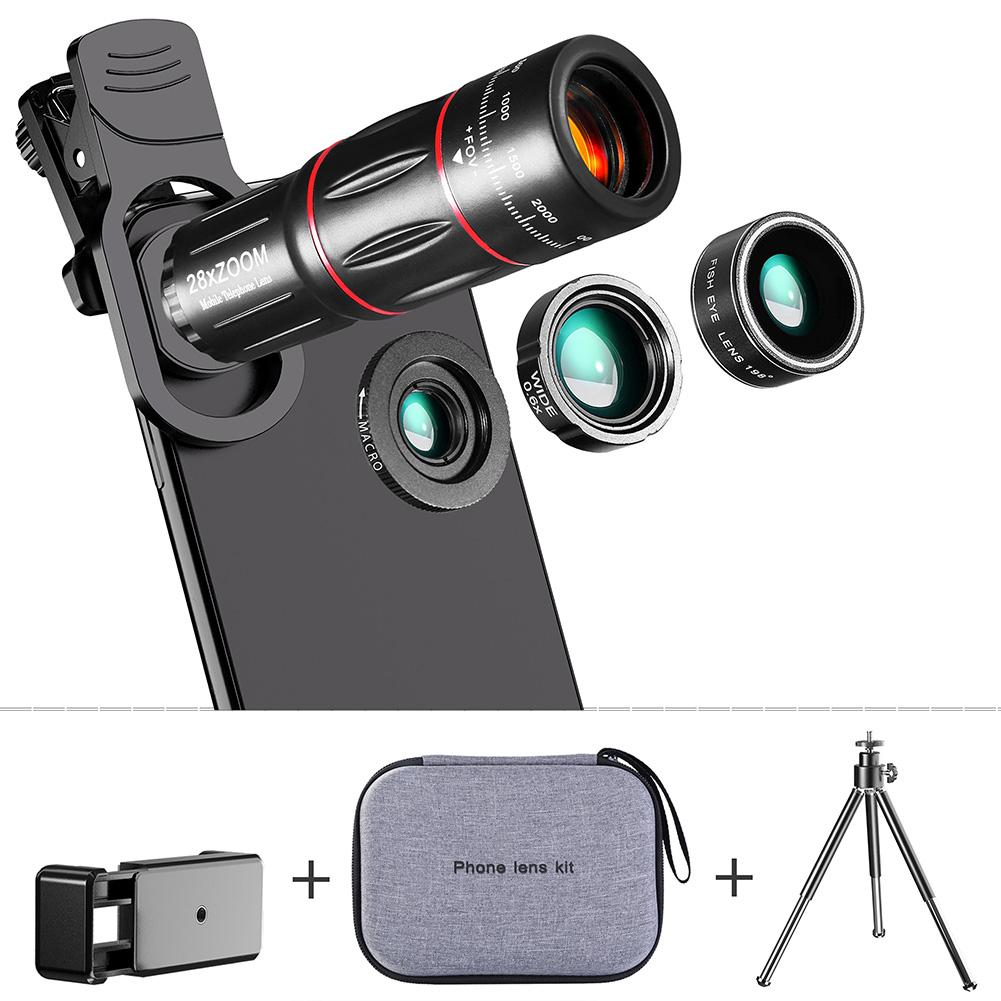 Universal Fish Eye Lens Wide Angle Macro Fisheye Lens Zoom For Iphone 7 8 Plus XS MAX X Mobile Phone Camera Lens Monocular