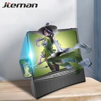 10inch 3d mobile phone screen magnifier hd video amplifier stand bracket with bluetooth two speaker audio call phone desk holder