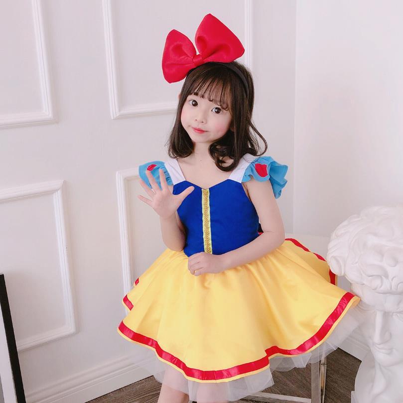 2020 summer new baby girls dress Cartoon sweet cute short sleeve princess dress kids Cosplay dress for girls vestidos Y2877