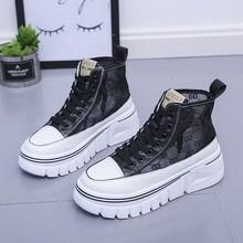 2021 Brand Sneakers Women Platform Vulcanized Shoes Fashion Breathable Thick Bottom High Top Chunky