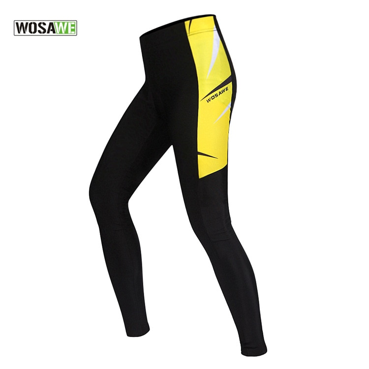 WOSAWE Lycra Bicycle Motorcycle Pants Breathable Gel Padded Cycling Tights Leggings Cycle Riding Trousers MTB Mountain Bike Pant enlarge