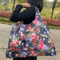 reusable grocery bag folding machine washable shopping bag large 50 pound tote bag shoulder bag strong lightweight polyester