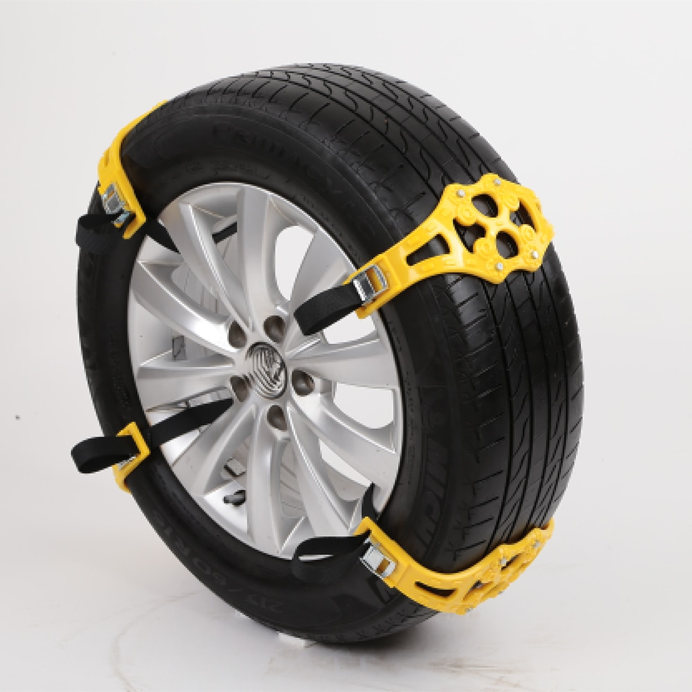 1pcs/set Car Anti-skid Safety Double buckle TPU Chains Winter Roadway Safety Tire Snow Snap Skid Wheel chains