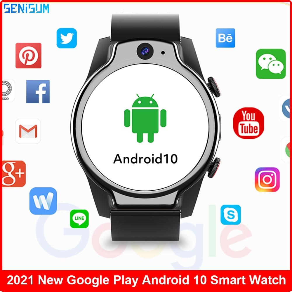 4gb + 64gb Novo Impermeável Mergulho 4g Relógio Inteligente Helio P22 Octa-core Cpu Google Play 13mp Câmera 1.69 Polegada Ips Smartver 2021 5atm