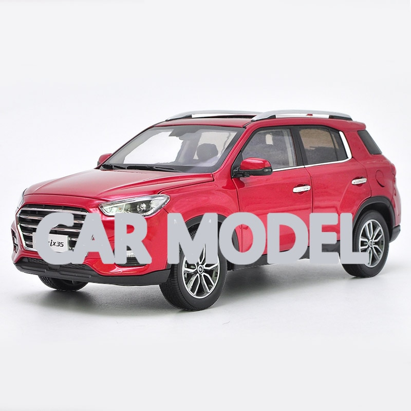 Vehículos de juguete de aleación a escala 118 XIANDAI IX35 SUV modelo de coche de coches de juguete para niños