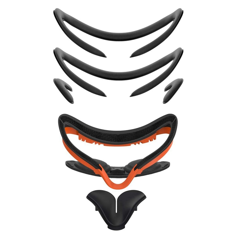 AMVR OOM VR الوجه تنفيس لينة قوس مكافحة تسرب ضوء بولي Leather رغوة جلدية واقي الوجه استبدال الوجه الوسادة ل كوة كويست 2