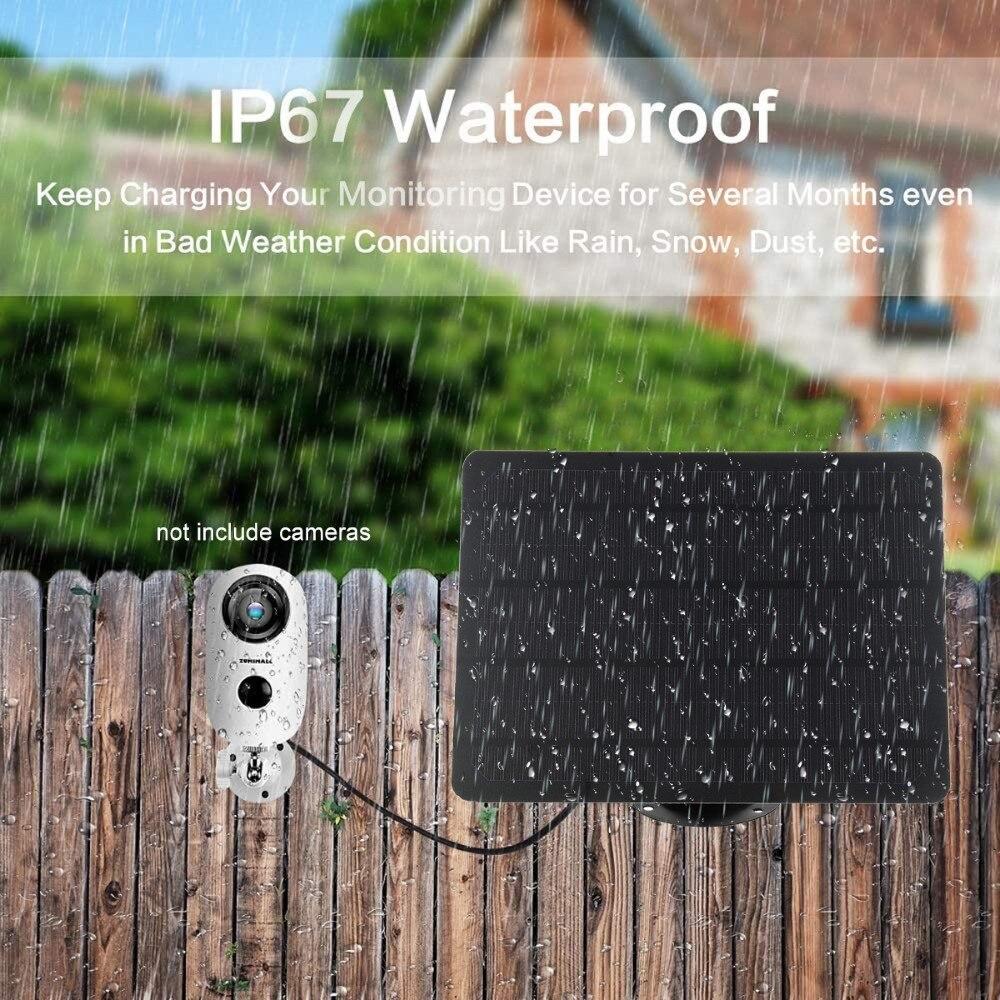 كاميرا لوحة طاقة شمسية IP67 مقاوم للماء 10 واط أحادية البلورية تعمل بالطاقة الشمسية شاحن لأمن IP واي فاي كاميرا ضوء الشارع