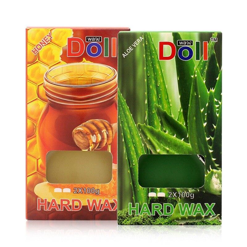 A estrenar la cera de la depilación sin dolor quitar el papel libre de Aloe y miel depilación