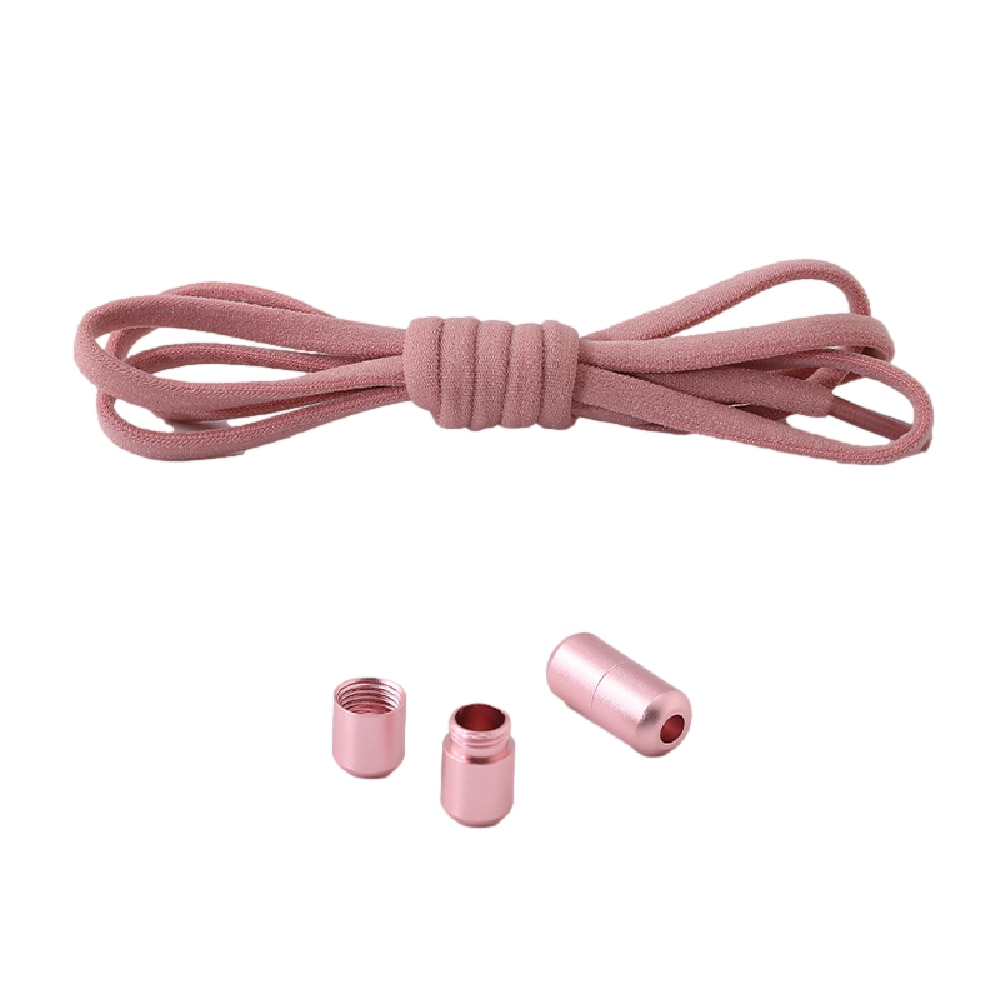 1Pair Metal Lock Shoelaces  Elastic Shoe Laces Special No Tie Shoelace for Men Women Lacing