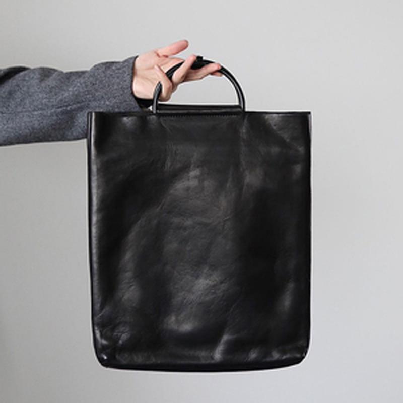 بسيطة المحمولة السيدات حقيبة جلدية جلد البقر مفتوحة الرجعية vintage القديمة اليدوية شخصية عمودي نمط المرأة العصرية حقيبة
